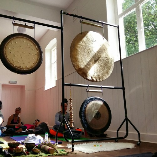 Yoga Connects - one of 7 indoor gong baths that weekend!